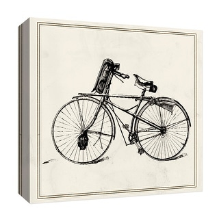 """PTM Images 9-126849  PTM Canvas Collection 12"""" x 12"""" - """"Old Bike III"""" Giclee Transportation Art Print on Canvas"""