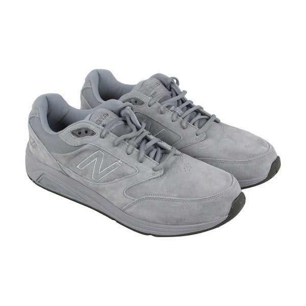 New Balance Marche Mens Gray Suede Athletic Lace Up Running Shoes