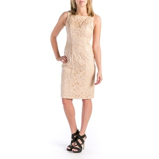 Sue Wong Womens Sequined Sleeveless Cocktail Dress