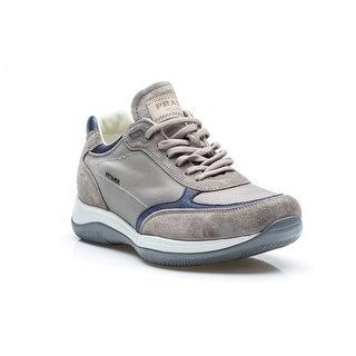 Prada Men's Running Trainer Shoes Suede Leather Nylon Stone Gray