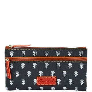 Dooney & Bourke MLB Giants Double Zip Flat Pouch (Introduced by Dooney & Bourke at $85 in Oct 2015) - Black