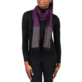Missoni SC12WMD5855 0001 Purple Wool Blend Womens Scarf