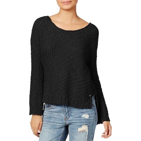 Roxy Womens Juniors Can't Be Ignored Pullover Sweater Open Back Textured