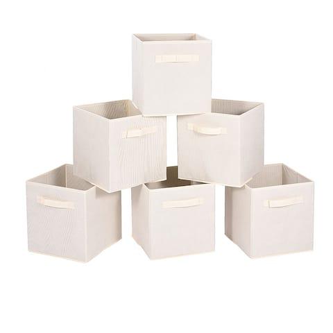 Enova Home Storage Bins Fabric Box (Set of 6) - N/A