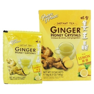 Prince of Peace Ginger Honey Crystals with Lemon Sachets 10 Bag