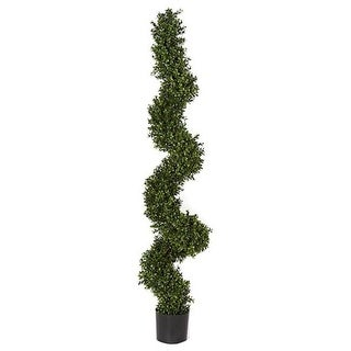 Autograph Foliages AUV-122390 5 ft. Boxwood Spiral Topiary Green