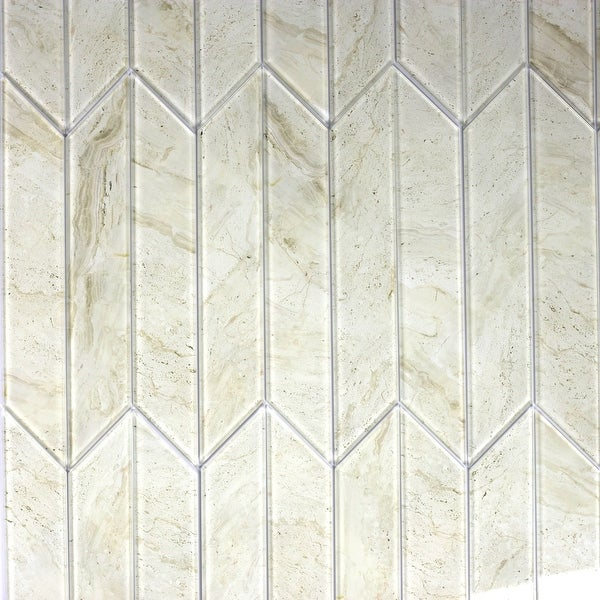 "Miseno MT-WHSWTJSET-CM Nature - 3-3/4"" x 11-3/4"" Other Wall Tile - Glossy Visual - Beige"
