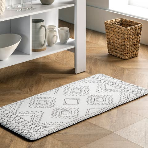 nuLOOM Tribal Moroccan Anti Fatigue Kitchen or Laundry Room Comfort Mat