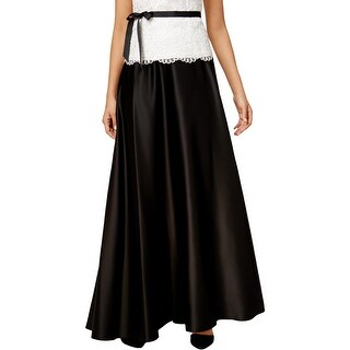 Alex Evenings Womens Petites Maxi Skirt A-Line Pull On