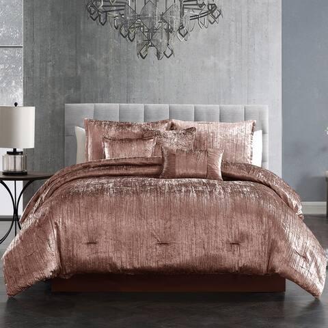 Riverbrook Home Turin Velvet 7 Piece Comforter Set