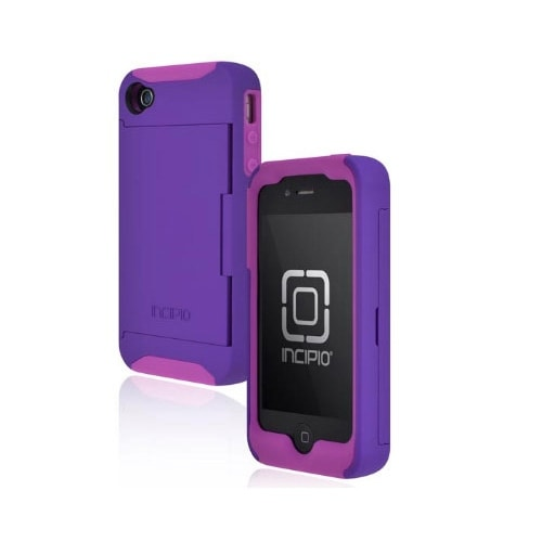 Incipio Stowaway Credit Card Case for Apple iPhone 4/4S (Deep Purple)