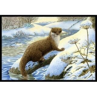 Carolines Treasures ASA2187MAT Winter Otter Indoor or Outdoor Mat 18 x 27