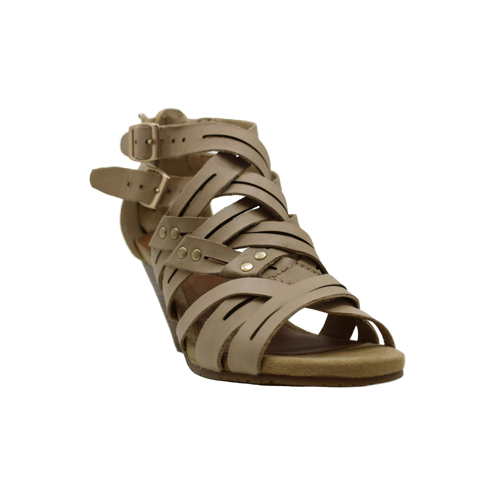 Bare Traps Womens ekko Leather Open Toe Casual Ankle Strap Sandals