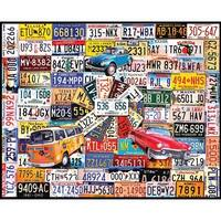 "Jigsaw Puzzle 1000 Pieces 24""X30""-License Plates"