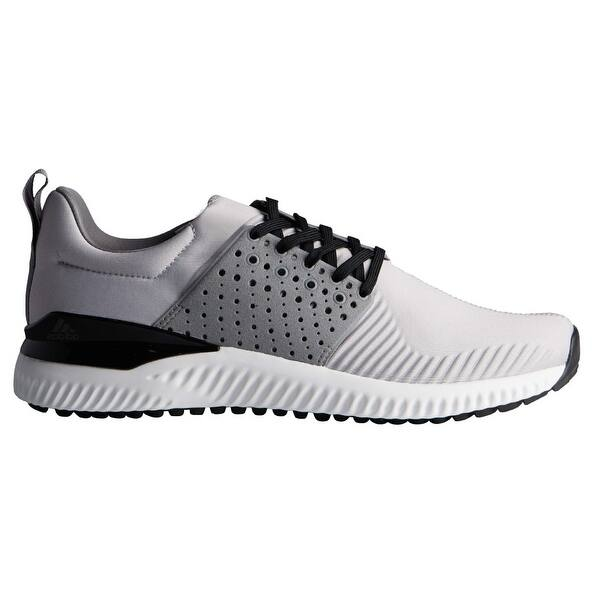 Shop Men S Adidas Adicross Bounce Light Grey Black Golf Shoes F33568 Overstock 31143157