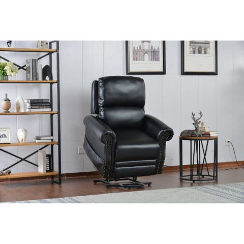 PU Leather Power Lift Recliner Chair with Remote Control