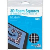 """Black; .25""""X.25"""" - Scrapbook Adhesives 3D Self-Adhesive Foam Squares 126/Pkg"""