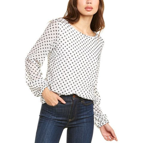 Nine West Clipped Blouse