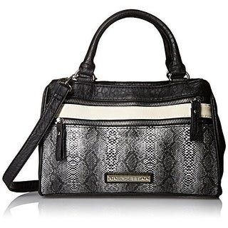 Rosetti Womens Charlotte Faux Leather Python Print Shoulder Handbag - Medium