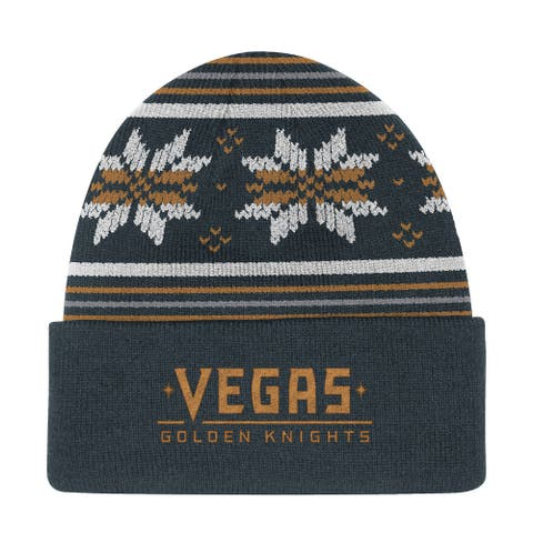 Vegas Golden Knights Grey Culture Head Logo Cuffed Knit Hat