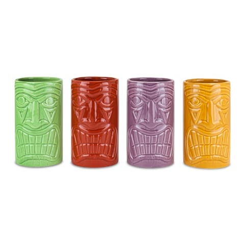 Beachcomber Ceramic Tiki Mugs in Assorted Colors by True