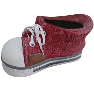Alpine QFC156RD Sneaker Planter, Red, Polyresin