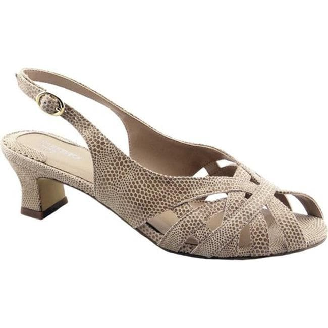 92fa6acb1 Shop Ros Hommerson Women's Pearl Slingback Nude Lizard Print Leather - Free  Shipping Today - Overstock - 22089833