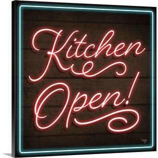 """""""Neon Kitchen Open"""" Canvas Wall Art"""