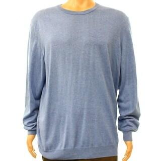 Club Room NEW Heather Blue Mens Size Large L Crewneck Silk Sweater