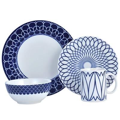 Mikasa Lavina Cobalt 16PC Porcelain Dinnerware Set