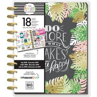 """Enjoy All Things; Jul 2018-Dec 2019 - Happy Planner 18-Month Dated Big Planner 8.25""""X11.5"""""""
