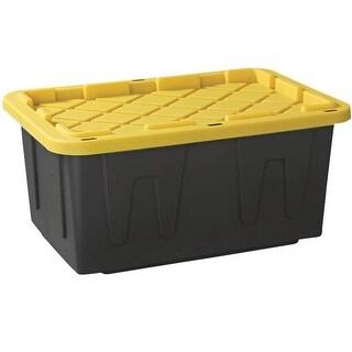 Homz Products/Storage 27 Gal Tough Tote 4427BKYL.04 Unit: EACH