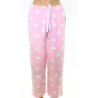 Roudelain NEW Heather Pink Women Size Large L Heart-Print Lounge Pants