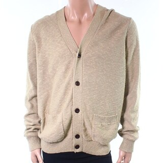 Tommy Hilfiger NEW Beige Mens Size XL Cardigan Button-Front Sweater