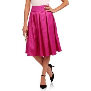 Woman's Taffeta Pleated Skirt, Fuchsia, by JADA Collections