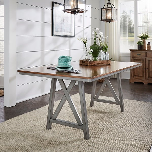 Hillpointe Rectangular Two-Tone Dining Table by iNSPIRE Q Classic. Opens flyout.