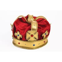 Regal King Costume Crown Adult - Red