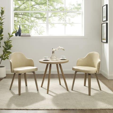 Carson Carrington Ylivieska Mid-Century Bamboo 3-piece Dining Set