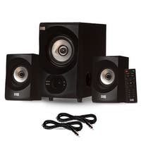 Acoustic Audio AA2171 Bluetooth Home 2.1 Speaker System with USB & 2 Ext. Cables