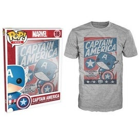 Funko Pop Grey Captain America Fight For Justice T-Shirt