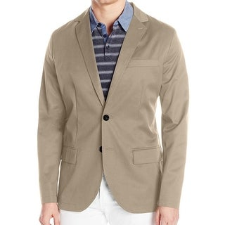 Nautica NEW Beige Mens Size Medium M Two Button Classic Twill Blazer