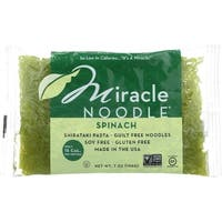 Miracle Noodle Pasta - Shirataki - Miracle Noodle - Spinach - 7 oz - case of 6 - 4 Pack