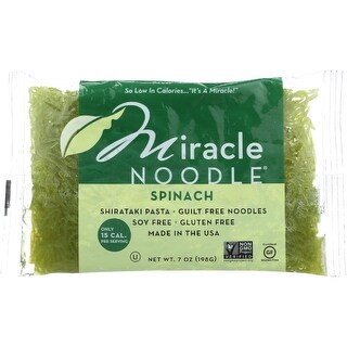 Miracle Noodle Pasta - Shirataki - Miracle Noodle - Spinach - 7 oz - case of 6
