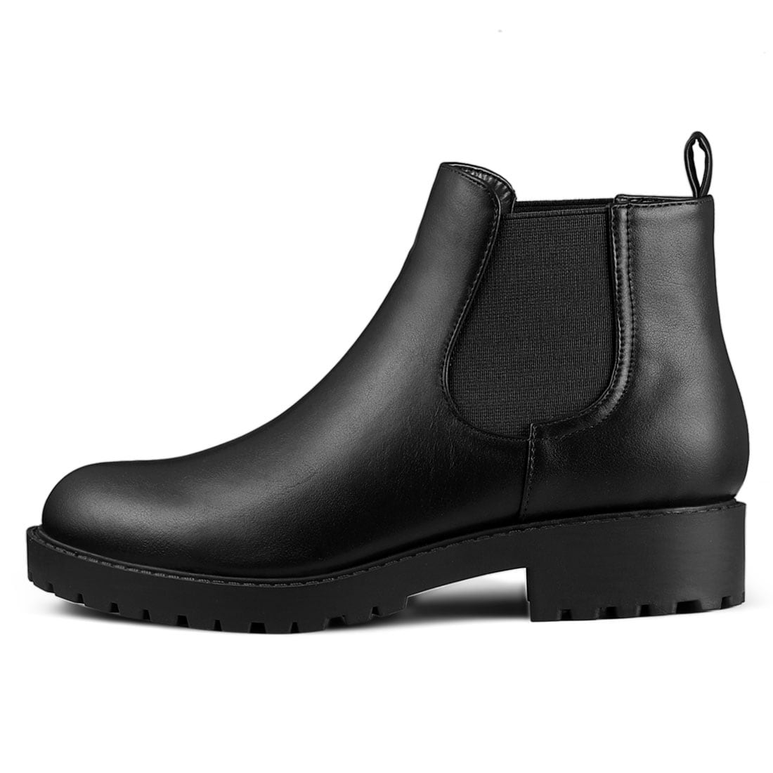 Low Heel Round Toe Chelsea Ankle Boots