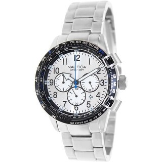 Nautica Men's Bfc 44 A24006G Silver Stainless-Steel Quartz Fashion Watch