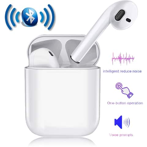 Wireless Bluetooth 5.0 In-Ear Headset True Stereo Auto Pairing Painless Wearing w/ Charging Box- For Android IOS