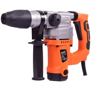 Electric Rotary Hammer Drill 1'' SDS Three Function Combo 1000W w/Chisel Kit - Orange