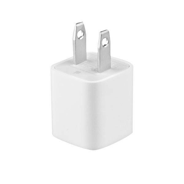 Apple OEM 5W (A-1385) USB Wall Travel Charger for iPhone - White Bulk