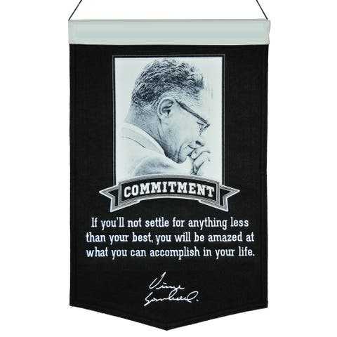 """Vince Lombardi Collection Commitment 23"""" x 15"""" Banner"""