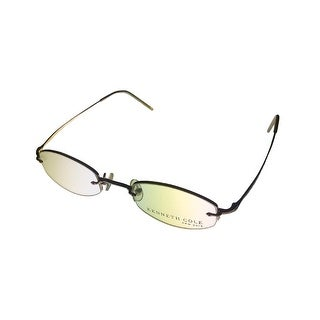 Kenneth Cole Opthalmic Eyeglass Frame Rimless Gold Oval Metal KC532 100 - Medium